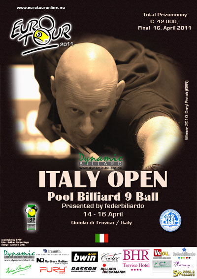 Diamond Nine - Euro-Tour / Dynamic Italy Open