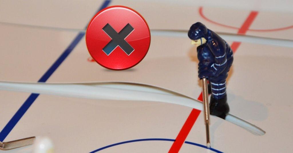 неправильное игровое поле настольного хоккея